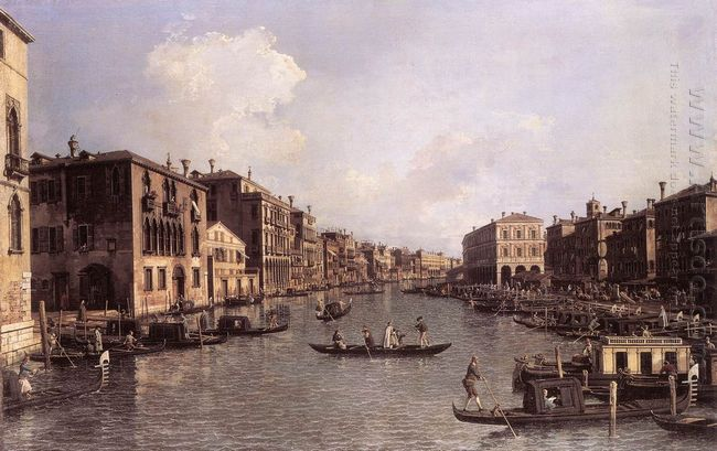 grand canal looking south east from the campo santa sophia to th