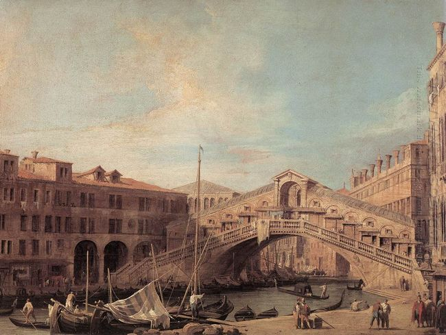 grand canal the rialto bridge from the south 1727