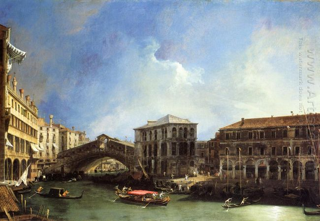 grand canel the rialto bridge from the north