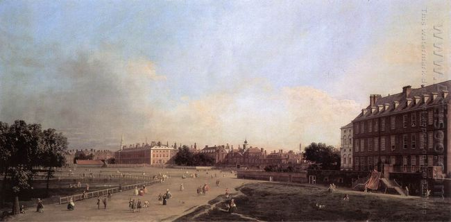 london the old horse guards from st james s park 1749