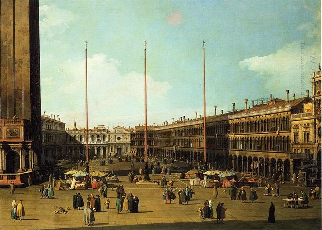 piazza san marco looking towards san geminiano