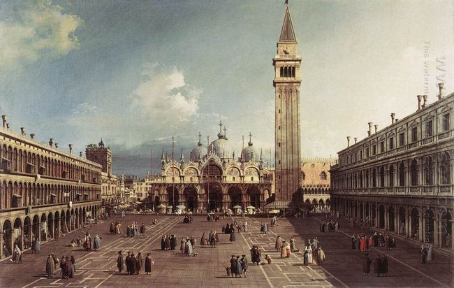 piazza san marco with the basilica 1730
