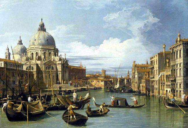 the grand canal and the church of the salute 1730
