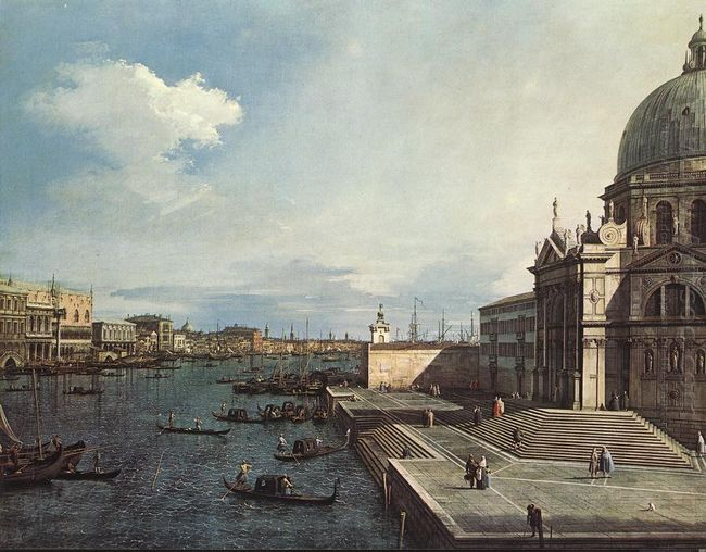 the grand canal at the salute church 1