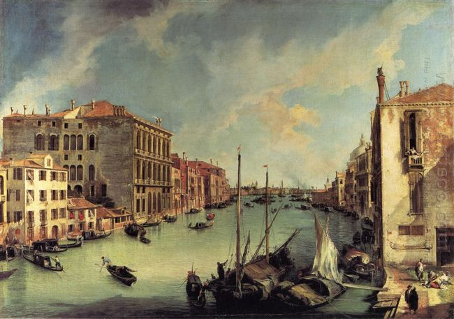the grand canal from the campo san vio venice