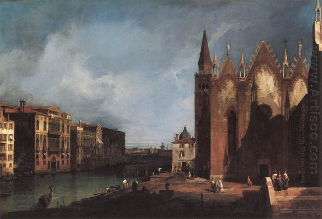 the grand canal near san maria della carit