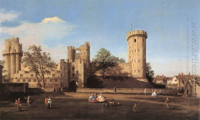warwick castle the east front 1752