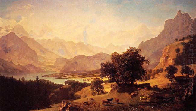 bernese alps as seen near kusmach 1859