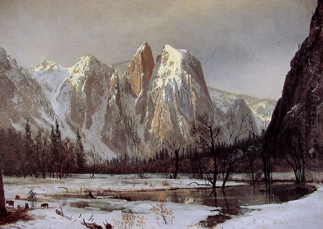 cathedral rock yosemite valley california 1872