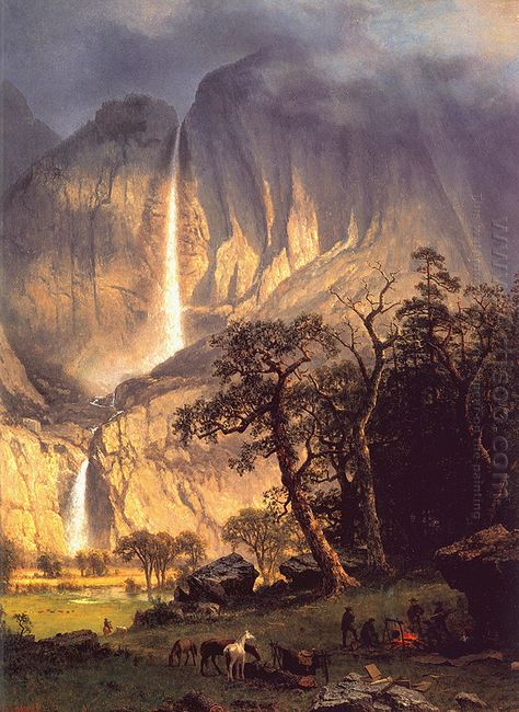 cho looke the yosemite fall 1864
