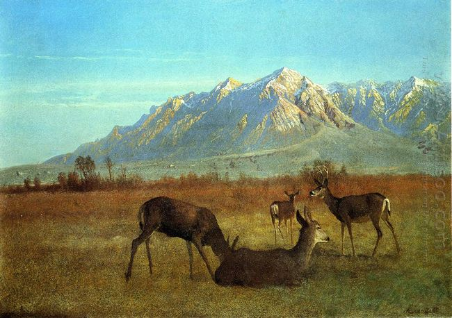 deer in a mountain home 1879
