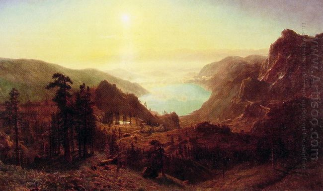 donner lake from the summit 1873