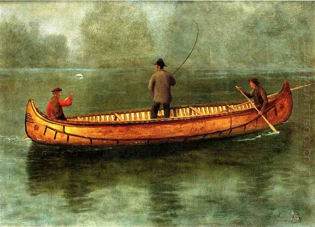 fishing from a canoe 1859