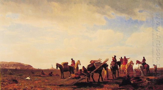 indians travelling near fort laramie 1861