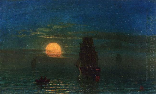 ships in moonlight