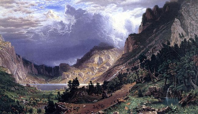 storm in the rocky mountains mt rosalie 1869