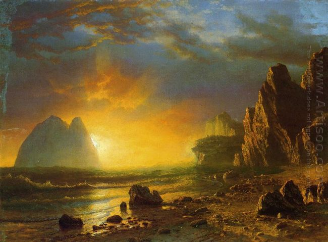 sunset on the coast 1866