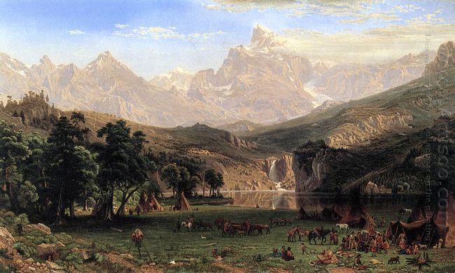 the rocky mountains landers peak 1869