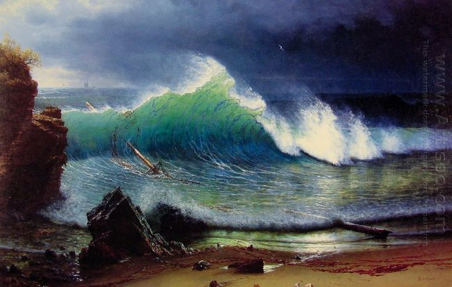 the shore of the turquoise sea 1878
