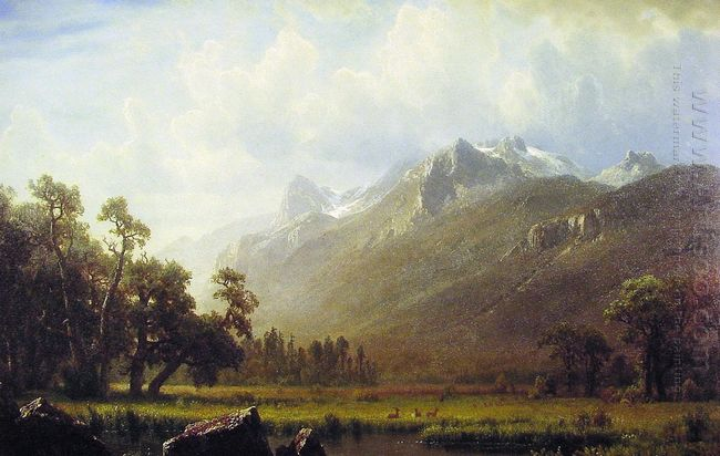 the sierras near lake tahoe 1865