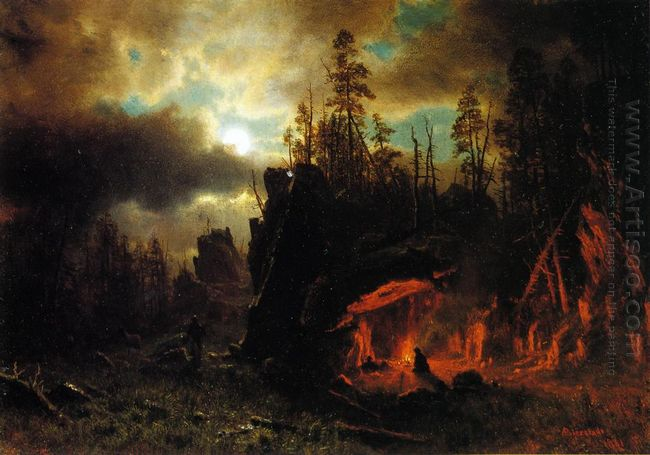 the trapper s camp 1861