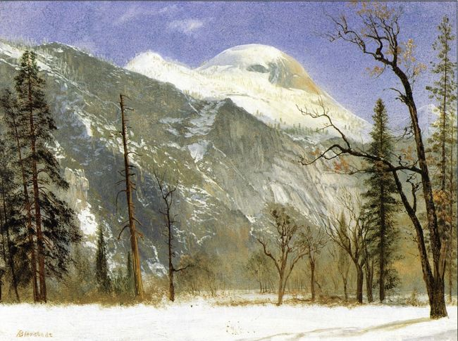 winter in yosemite valley 1872