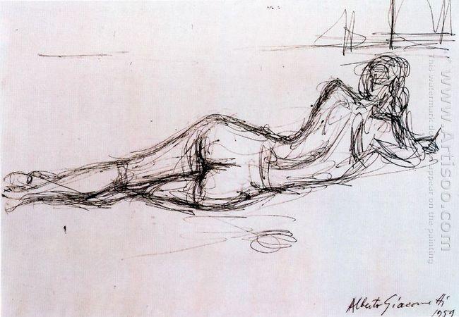 naked lying back