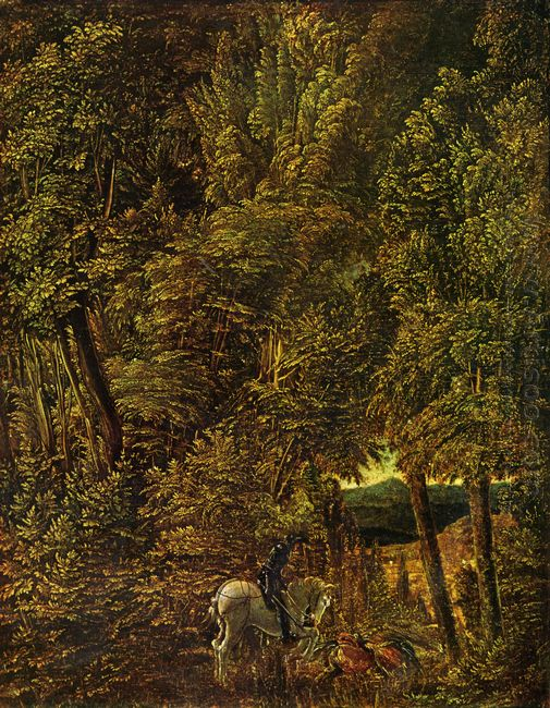 countryside of wood with saint george fighting the dragon 1510