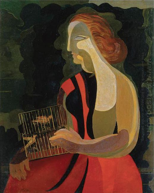 woman with birds 1928
