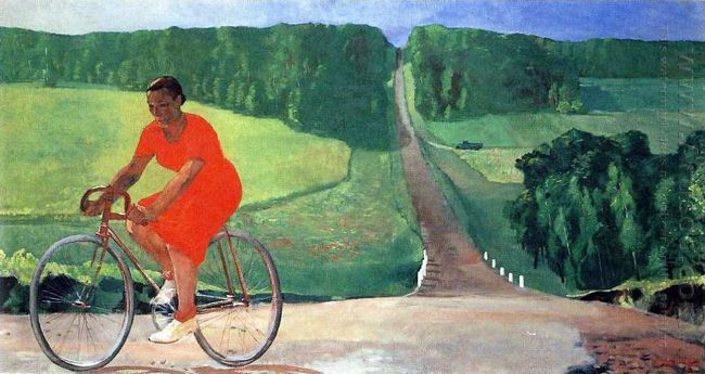 collective farm girl on a bike 1935