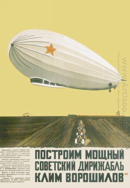 construct a powerful soviet airship klim voroshilov 1931