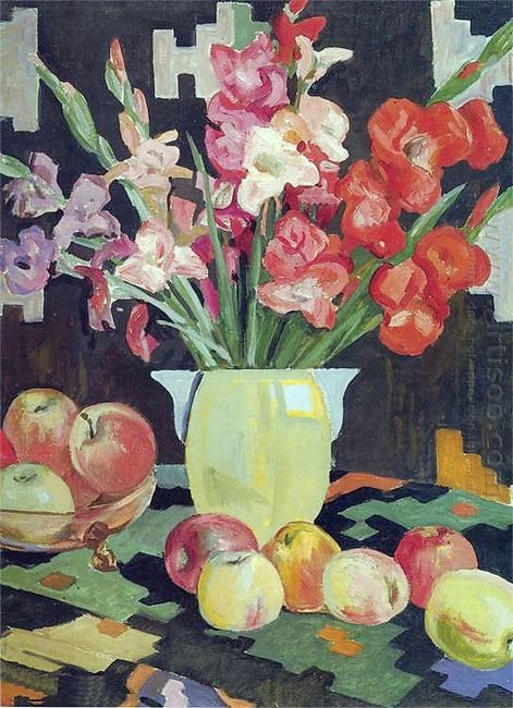 gladioli and apples 1953