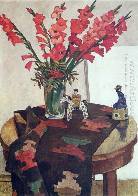 gladioli with rowan 1949