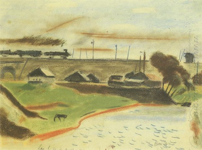 landscape with train 1931