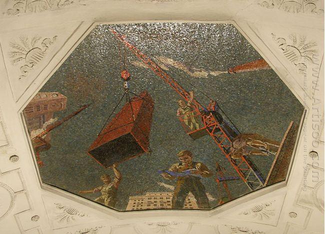 mosaic art metro novokuznetskaya 1943