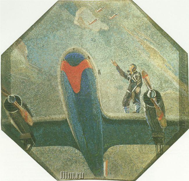 mosaic art metro novokuznetskaya 3 before departure 1943