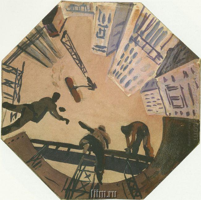 mosaic art metro novokuznetskaya sketch 1943