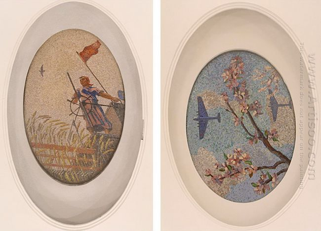 mosaic art m mayakovkskaya 03 04 1938