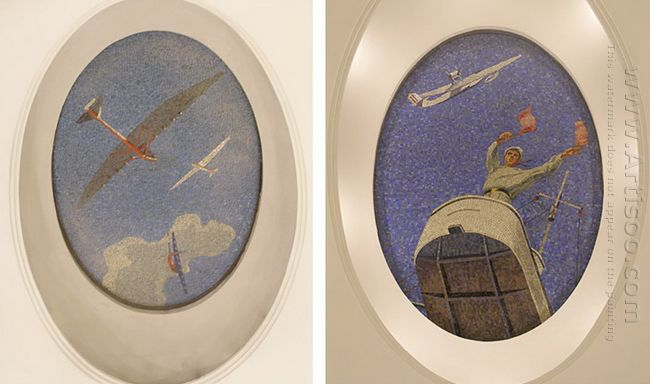 mosaic art m mayakovkskaya 17 18 1938