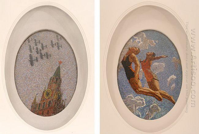 mosaic art m mayakovkskaya 1938