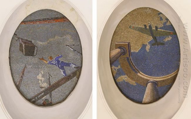 mosaic art m mayakovkskaya 23 24 1938
