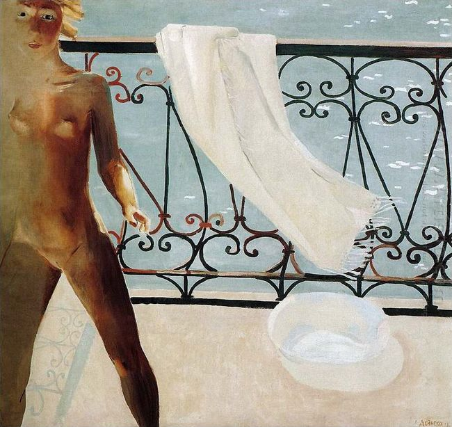 on the balcony 1931