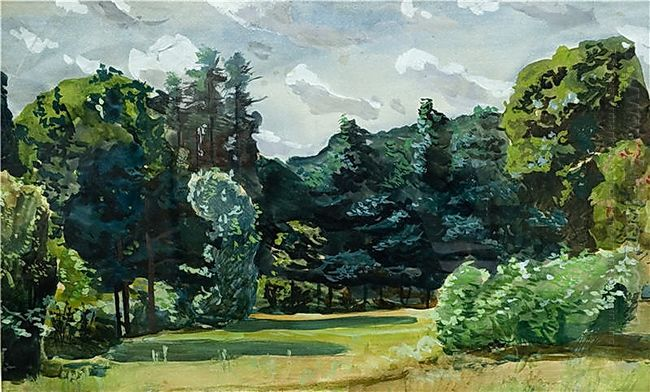 park watercolor 1935