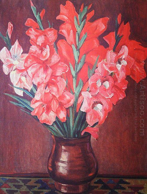 pink gladioli 1953