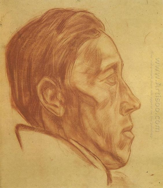 portrait of a man in profile 1923