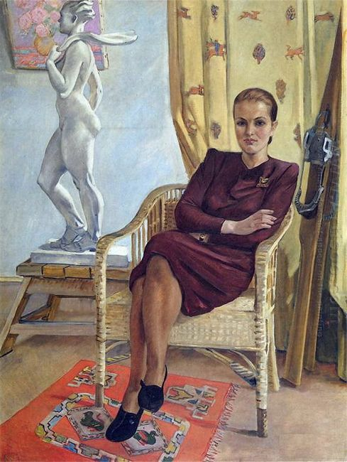portrait of an architect tamara mileshina 1955