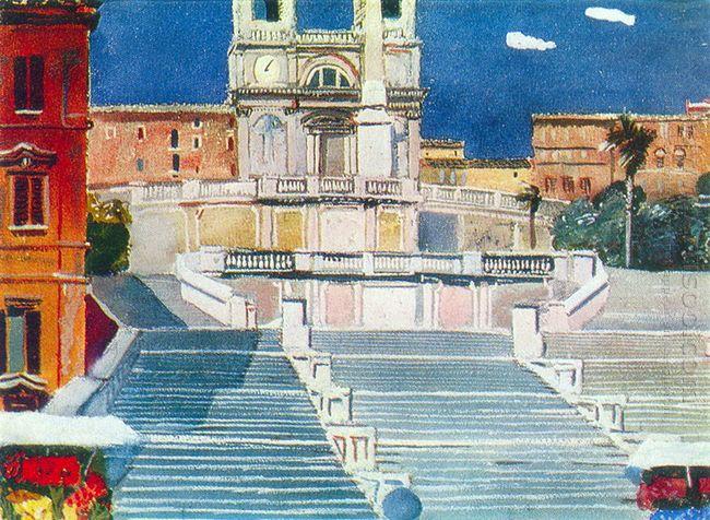 rome piazza di spagna 1935