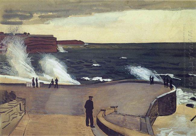 sevastopol at the pier 1934