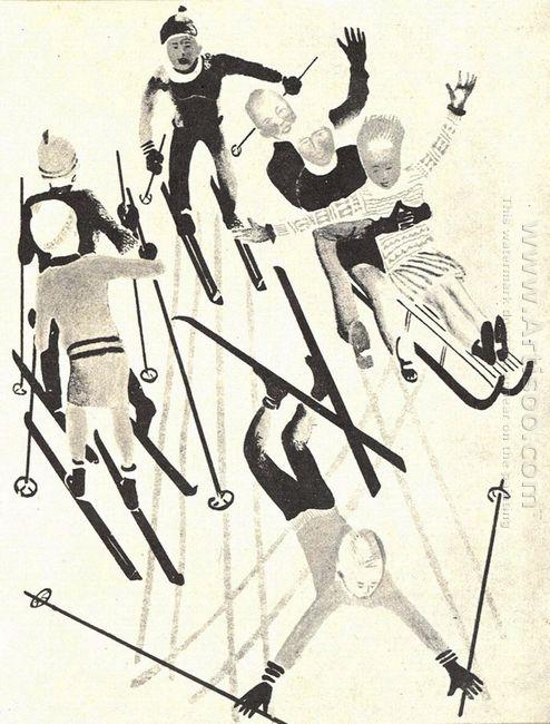 skiing 1928