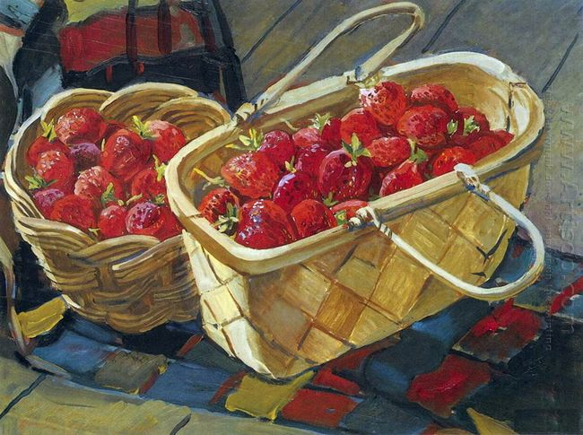 still life strawberry 1955